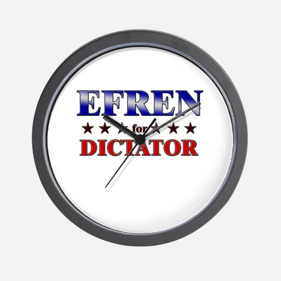EFREN for dictator Wall Clock