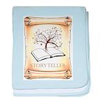 Storyteller baby blanket
