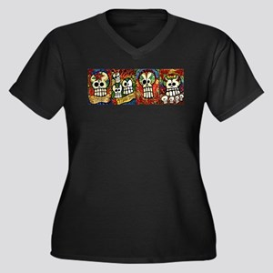 Sugar Skulls Day of the Dead Plus Size T-Shirt