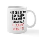 Abs on a skinny guy Mugs