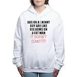 Abs on a skinny guy Women's Hooded Sweatshirt