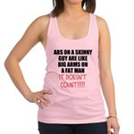 Abs on a skinny guy Racerback Tank Top