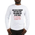 Abs on a skinny guy Long Sleeve T-Shirt