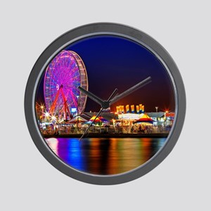 Fair at Night Wall Clock