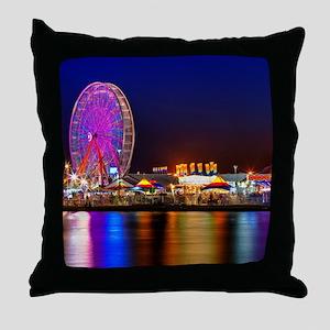 Fair at Night Throw Pillow