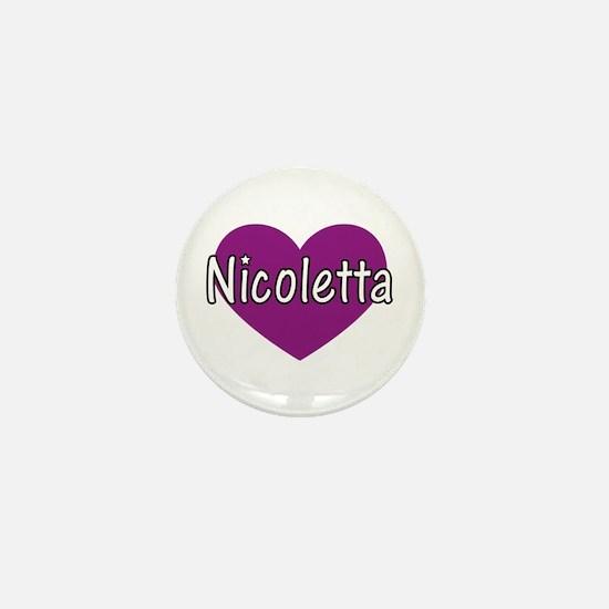 Nicoletta Mini Button