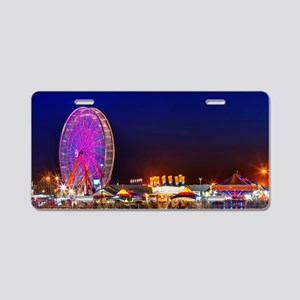 Fair at Night Aluminum License Plate