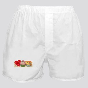 Vintage Retro Cupcake And Teacup Vale Boxer Shorts