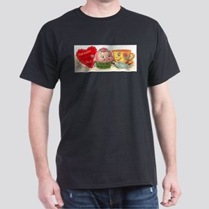 Vintage Retro Cupcake And Teacup Valentine T-Shirt
