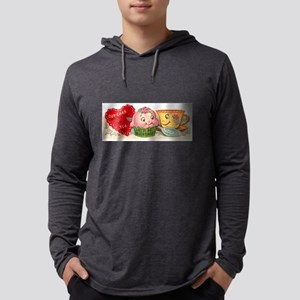 Vintage Retro Cupcake And Teac Long Sleeve T-Shirt