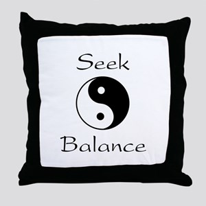 Seek Balance Throw Pillow