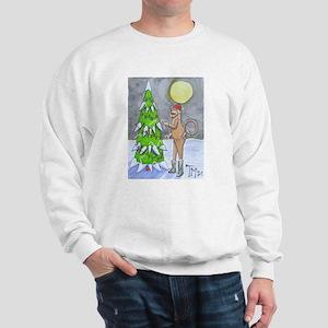 Candy Cane Sock Monkey Sweatshirt