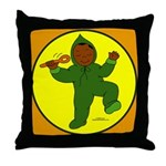 Baby's First Steps Throw Pillow skin tone A