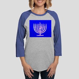 Blue Menorah OMG Hanukkah 4 Ha Long Sleeve T-Shirt