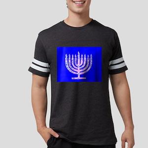 Blue Menorah OMG Hanukkah 4 Hannah T-Shirt