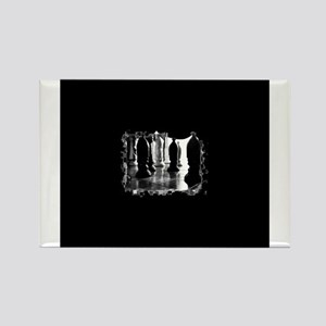 Chess Game (B&W) Rectangle Magnet