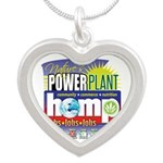 Hemp Power Plant Silver Heart Necklace
