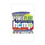 Hemp Power Plant Sticker (Rectangle)