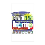 Hemp Power Plant Sticker (Rectangle 50 pk)