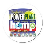 Hemp Power Plant Round Car Magnet