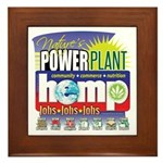 Hemp Power Plant Framed Tile