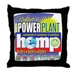 Hemp Power Plant Throw Pillow