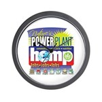 Hemp Power Plant Wall Clock