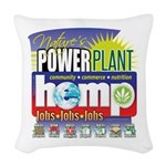 Hemp Power Plant Woven Throw Pillow