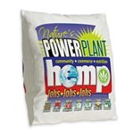 Hemp Power Plant Burlap Throw Pillow