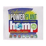 Hemp Power Plant Throw Blanket