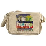 Hemp Power Plant Messenger Bag