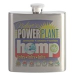 Hemp Power Plant Flask