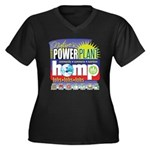 Hemp Power P Women's Plus Size V-Neck Dark T-Shirt