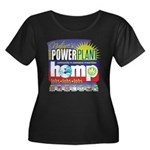 Hemp Pow Women's Plus Size Scoop Neck Dark T-Shirt