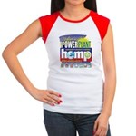Hemp Power Plant Junior's Cap Sleeve T-Shirt
