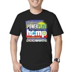 Hemp Power Plant Men's Fitted T-Shirt (dark)