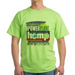 Hemp Power Plant Green T-Shirt