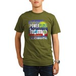 Hemp Power Plant Organic Men's T-Shirt (dark)