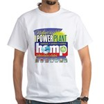 Hemp Power Plant White T-Shirt