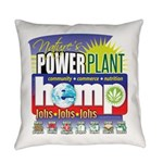 Hemp Power Plant Everyday Pillow