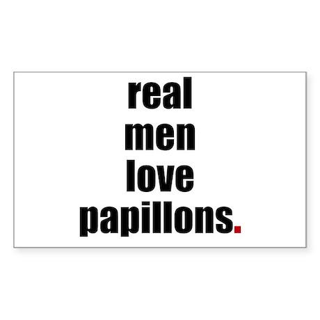 Real Men - Papillons Rectangle Sticker