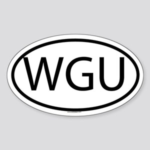 WGU Oval Sticker
