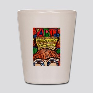 ART BRAIN (This is your brain on Art) Shot Glass
