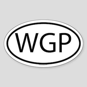 WGP Oval Sticker