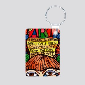 ART BRAIN (This is your brain on Art) Keychains