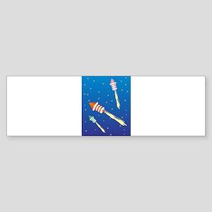 Three Fireworks Rockets Bumper Sticker
