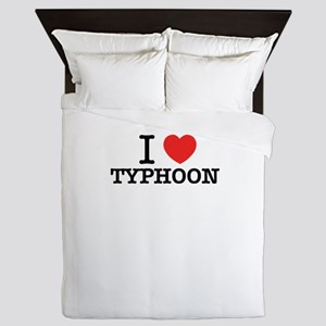 I Love TYPHOON Queen Duvet