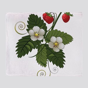 Fruits | Leaves | Flowers Throw Blanket