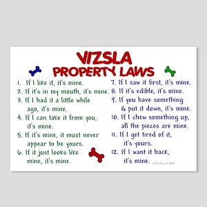 Vizsla Property Laws 2 Postcards (Package of 8)