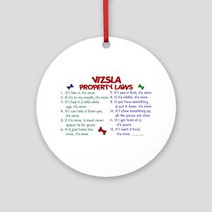 Vizsla Property Laws 2 Ornament (Round)